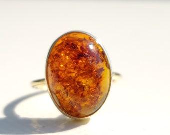 royal Amber Jewelry \u771f\u6b63\u7684\u6ce2\u7f57\u7684\u6d77\u7425\u73c0 Genuine Baltic royal Amber Silver Adjustable Ring