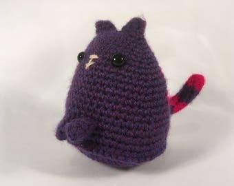 Crocheted Purple/pink Dumpling Cat
