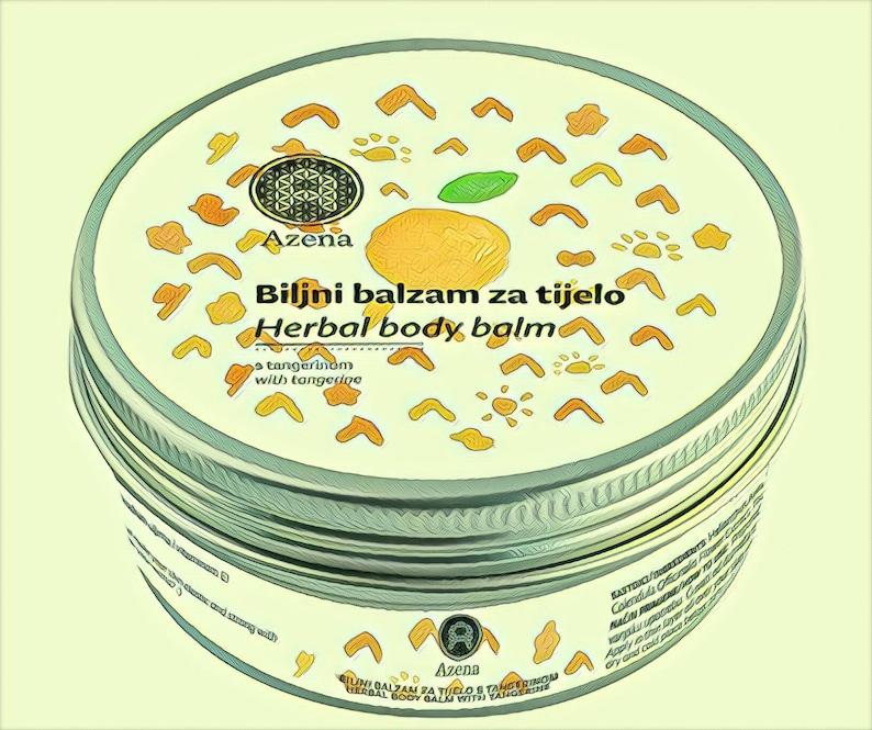 Herbal body balm  Tangerine image 0