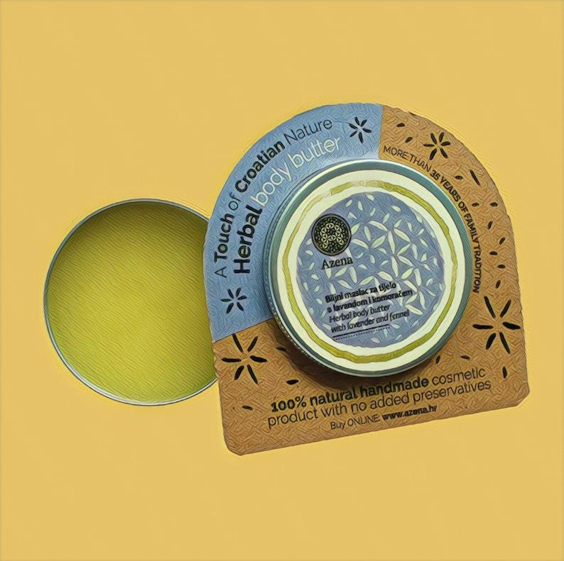 AZENA Herbal body butter 60ml  lavender & fennel image 0