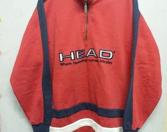 Vintage head half zipper sweatshirt hip hop style M/ L