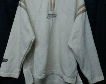 Vintage puma half zipper sweatshirt hip hop M