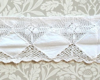A length of vintage wide crochet lace edging - ideal for a dresser or mantelpiece - 180 cm length