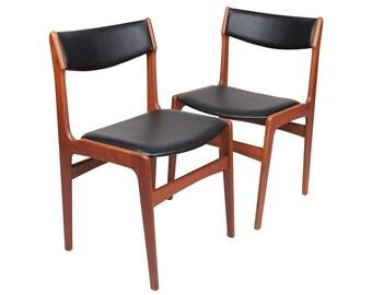 Set van zes Deense Rosewood Dining stoelen door Erik Buch | Etsy