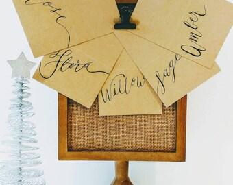 Custom Calligraphy Place Cards - Kraft