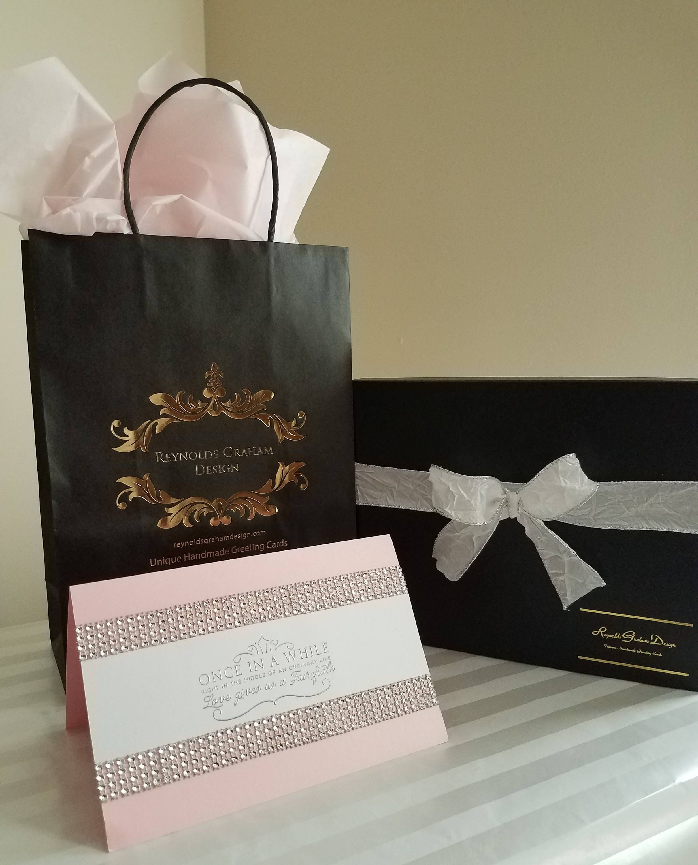Pink Elegant Wedding Card Boutique Package