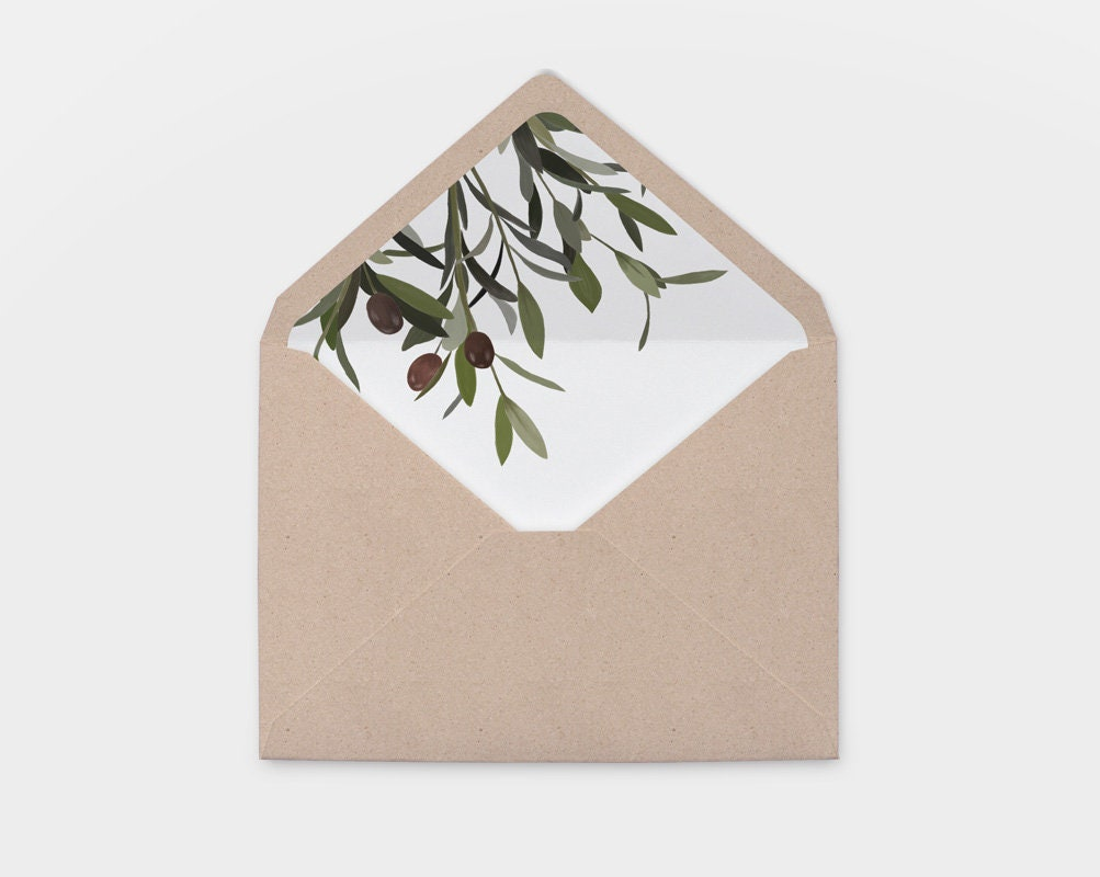 Envelope Liner Template Printable Wedding Invitation Envelope Etsy