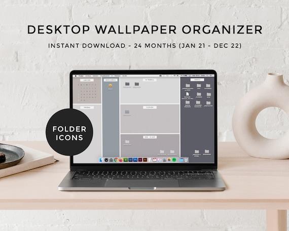 Calendar Desktop Wallpaper 2022.Desktop Wallpaper Organizer Calendar 2021 2022 Minimalist Etsy