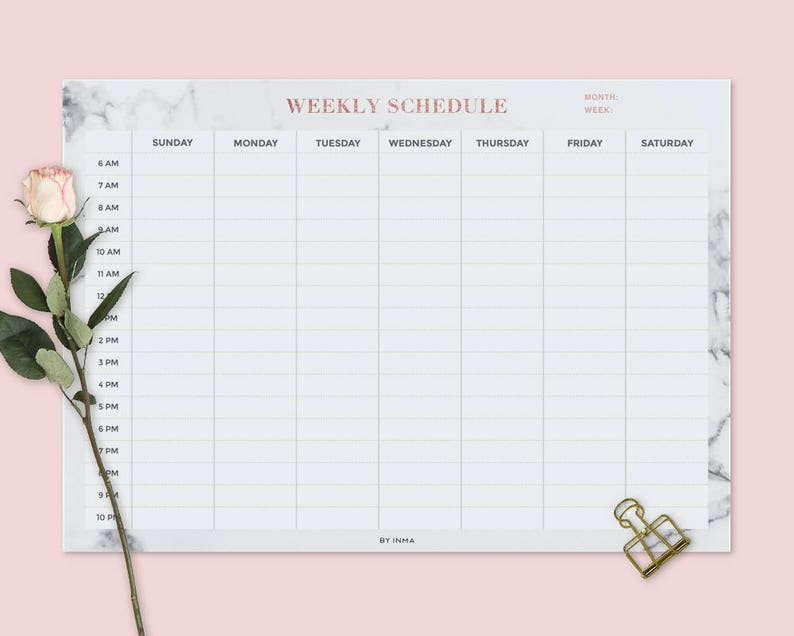 image regarding Printable Schedule called Marble Planner, Weekly calendar PRINTABLE, Routine, Program, Table calendar, Pupil planner, Table planner, Sunday Monday get started, A4 letter