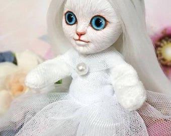 CAT OOAK Doll/Fantasy Animal / Repaint & Costume