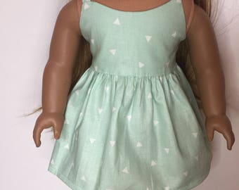 Green Dress made to fit 18 inch dolls such as American Girl dolls