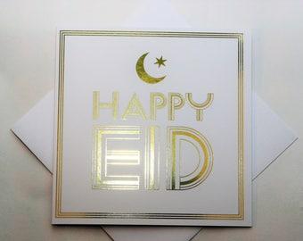 Happy Eid Modern Greeting Card