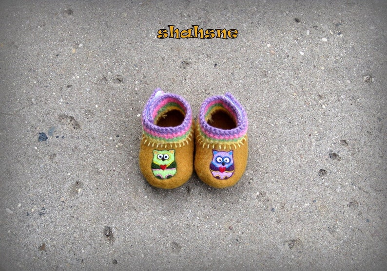 52fb960b825 Baby spring shoes Boiled wool animal booties Non slip shoe