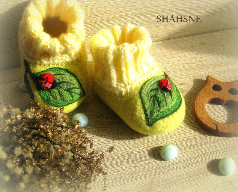 Felted Slippers Kids House Shoes Wool Slippers Warm Etsy