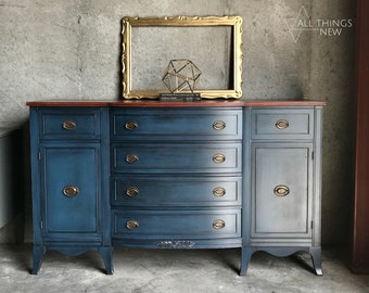 painted buffet etsy rh etsy com blue candy buffet table blue buffet tables