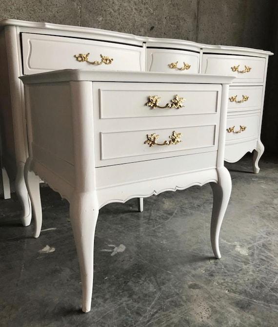 French Provincial Dresser/White Dresser/Bedroom Furniture/White  Furniture/Provincial Dresser/Painted Furniture/Refinished Dresser