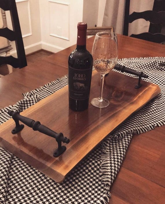 Sensational Live Edge Tray With Handles Live Edge Tray Walnut Tray Coffee Table Tray Food Tray Rustic Tray Living Room Tray Home Decor Tray Wood Gmtry Best Dining Table And Chair Ideas Images Gmtryco