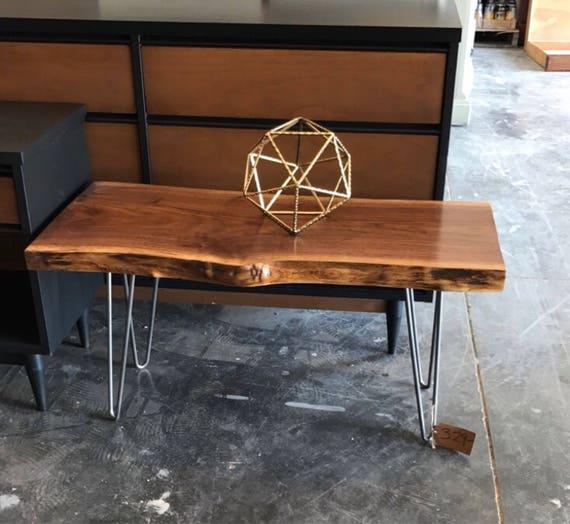 Handmade Mid Century Coffee Table: Your CUSTOM Live Edge Coffee Table/Mid Century Modern
