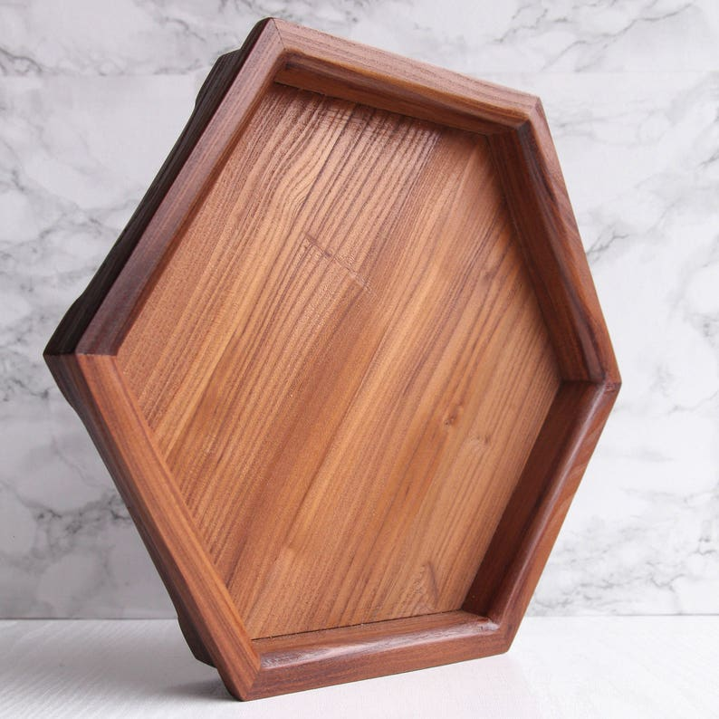 Tremendous Small Ottoman Tray Wooden Serving Tray Decorative Tray Hexagon Tray Shabby Chic Coffee Table Round Wooden Tray Wood Geometric Tray Caraccident5 Cool Chair Designs And Ideas Caraccident5Info
