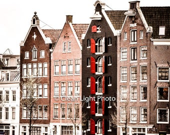Amsterdam High-quality Picture for decoration. Mounted on matboard or print-only.