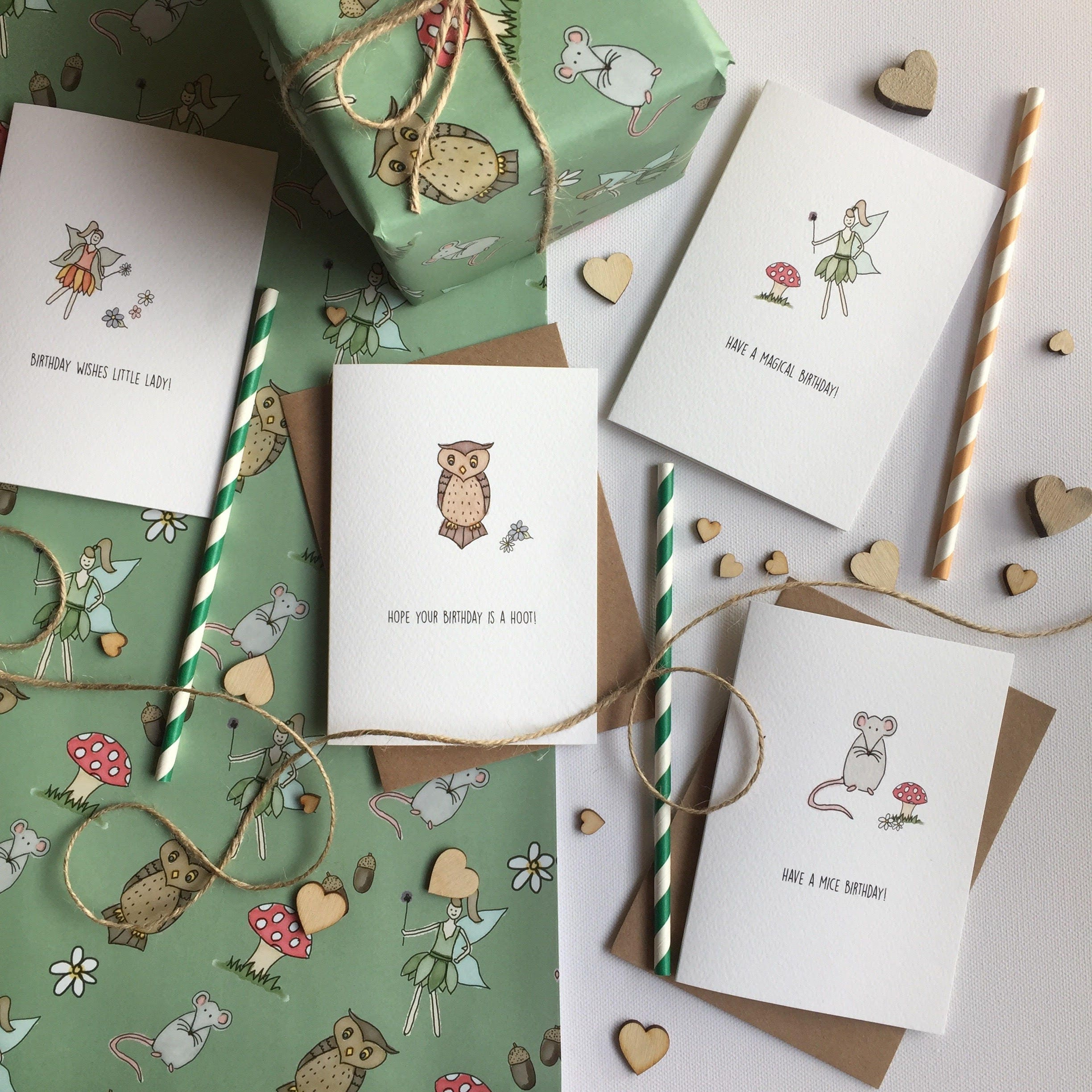 Woodland Themed Birthday Cards
