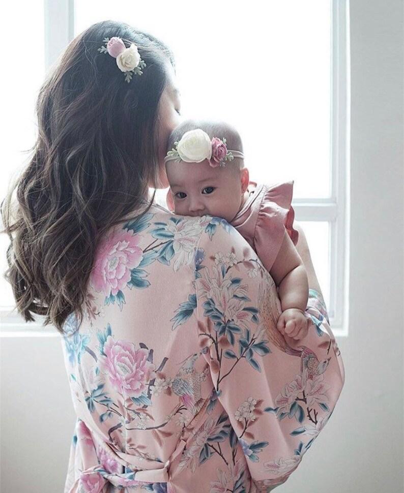 baby clip handmade baby flower crown nylon headband Mommy /& me set flower headband
