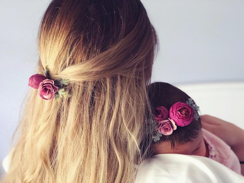 baby flower crown Floral Headband handmade nylon headband