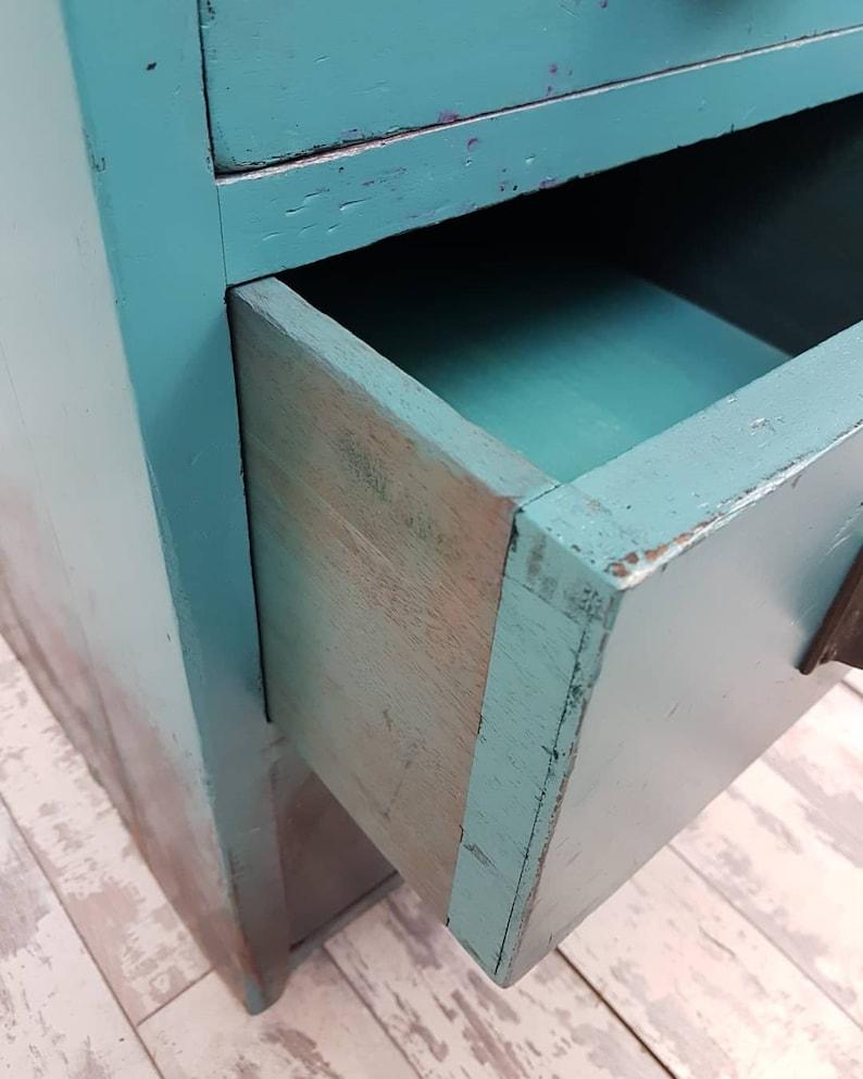 Cassetto da letto rustico industriale Teal 3tZ5H47T