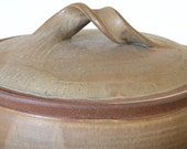 Massive mid-1960s Karen Karnes Lidded Wood Fired Stoneware Casserole