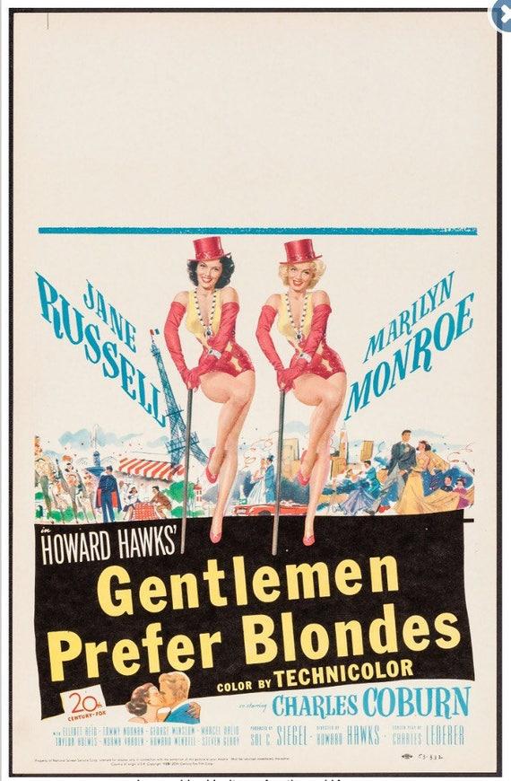 Gentlemen Prefer Blondes (20th Century Fox, 1953)  Window card 14