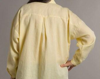 linen shirt,loose linen shirt,oversized shirt,buttonfront shirt,classic shirt,plus size shirt,longsleeve shirt,casual shirt,linen tunic