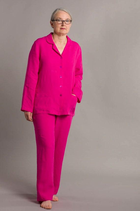65de430feca3 SALE ITEMlinen pyjamas pink pajamas linen pyjamas women