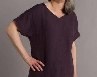 linen top, linen tunic, linen tunic women,linen tee, pure linen, handmade, irish linen,made in ireland, tunic,linen tunic, plus size top