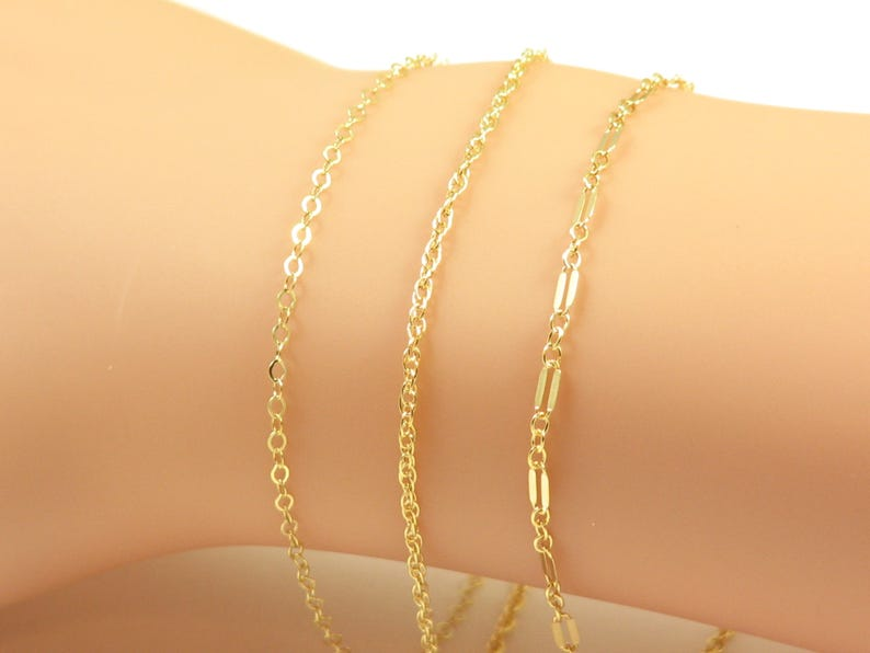 Alert 24k Gold Bonded Link Bracelet Or Anklet 9 Inches With A Long Standing Reputation Jewelry & Watches
