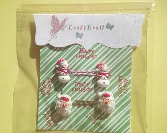 Bobby Pins set, christmas hair accessories,hair accessories for kids, hair pins, bobby pins for hair, santa hair accessories,