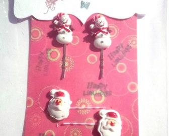 Bobby pins set, Christmas hair accessories,  Bobby pins for hair, Decorative bobby pins, decorative hair accessories, decorative hair clips