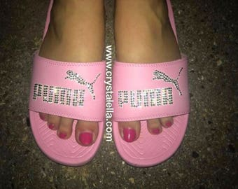 4ede19510a80 puma pink fuzzy slippers Sale