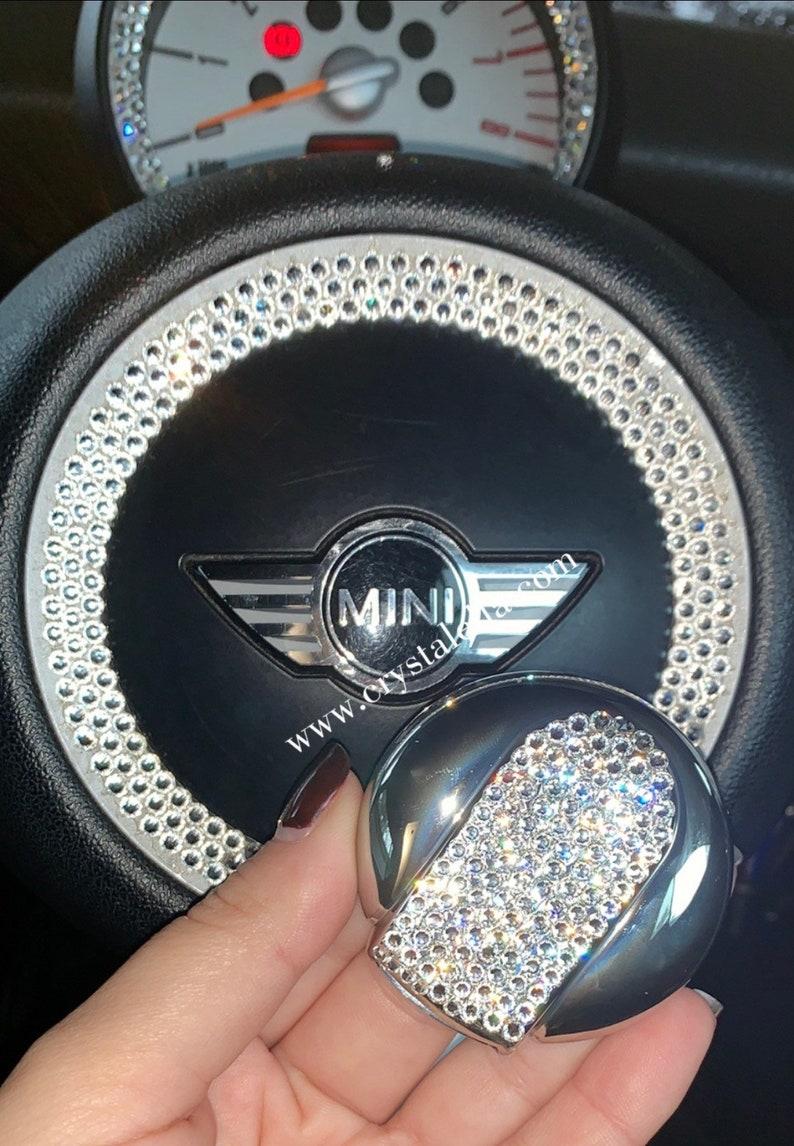 1901e99f3467 Silver Swarovski MINI COOPER Key Cover