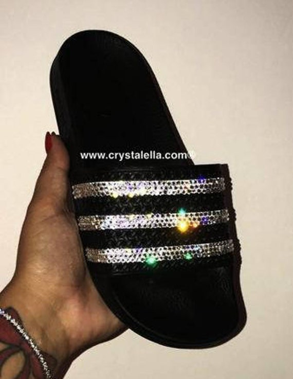 Adidas Adilette Sandals with Swarovski Crystals  eca9b806e0