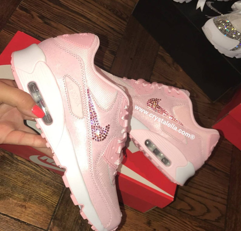 size 40 31436 ffd12 crystal nike air max 90 s in baby pink