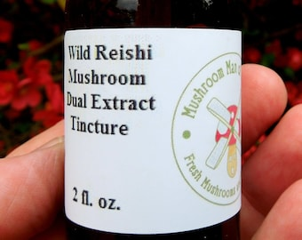 2 oz Reishi Double Extraction Tincture, Wild Harvested with Free Shipping