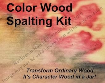 Color Spalt Pack for DIY Wood Spalting