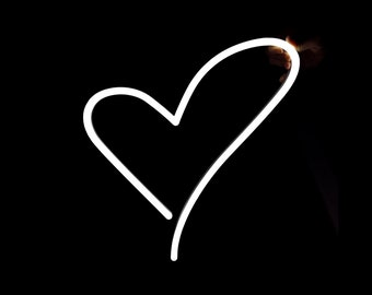 """Heart Neon Sign 14""""x15"""" LED Neon Heart Light w/ dimmer switch   Romantic Valentine's Day Gift & Wedding Gift"""