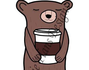 Sleepy Bear Drinks A LOT of Coffee