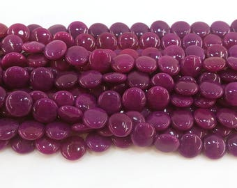 BRAZILIAN AGATE ROUND PUFFY COIN GEMSTONE BEADS  14mm X 6mm