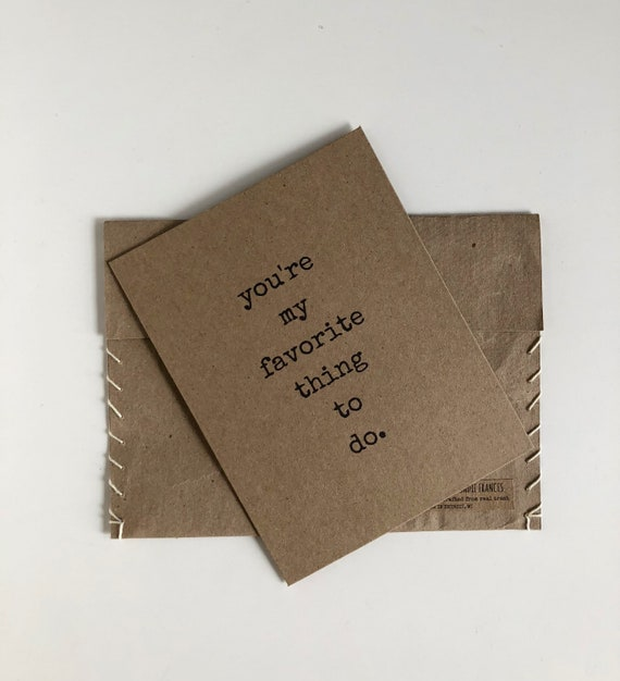 Funny Boyfriend Card Anniversary For Him Husband Just Because Birthday Recycled Paper Youre My Favorite