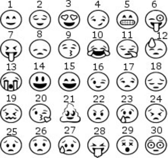 emoji sticker emoji decal smiley face sticker smiley face etsy Emoji Red Dot image