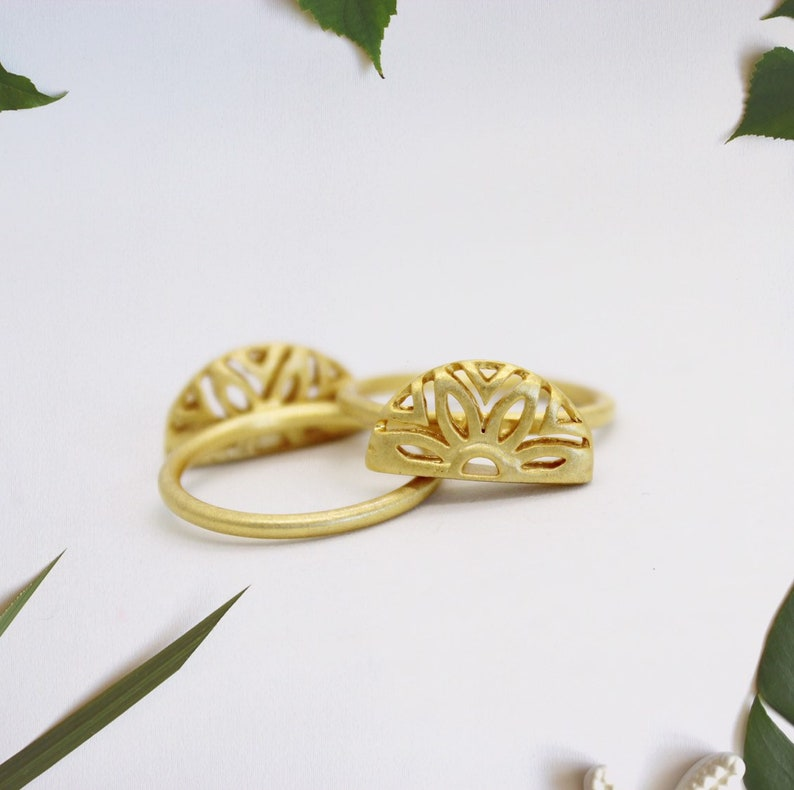 Half Moon Ring Gold filled Ring Dainty Gold ring for women image 0