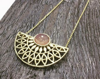 Half moon gift ideas, Choker Necklace, Gold Choker, Mom gift, Gift for her, Filigree necklace, Statement necklace, PrachiBhiseJewelry