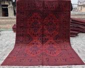 Size 6 39 9 x 9 39 7 Ft, Gorgeous Afghan Turkoman Khal Mohammadi Area Rug, Caucasian Area Rug, Turkish Rug, Armenian Rug Kilim, Wholesale Price
